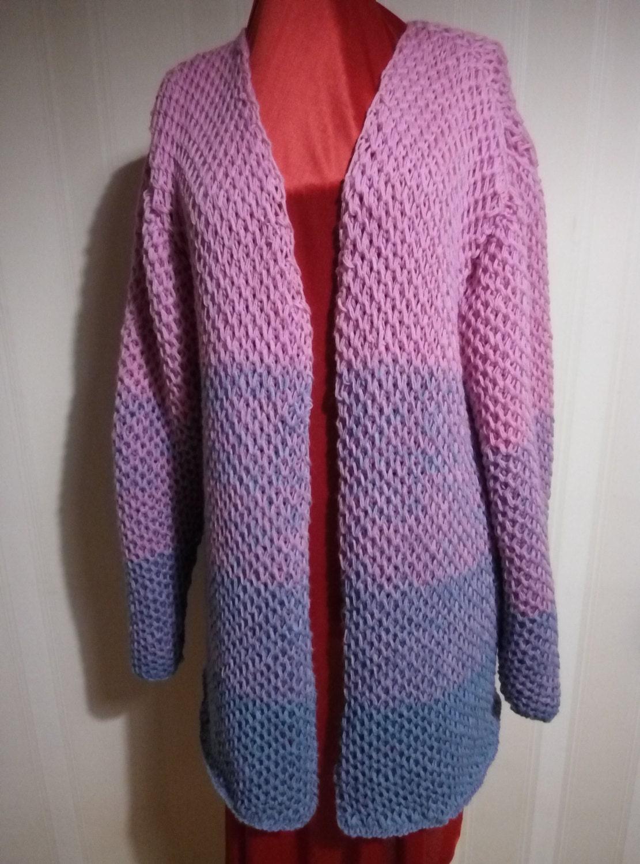 Hand Knitted Dress Patterns : Hand Knit cardigan womens jacket women hand knitted dress