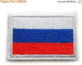 HALF PRICE Embroidered Russian Flag Patch Appliqué