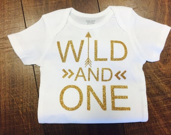 Wild And One | First Birthday | Girls | Bodysuit | Any size