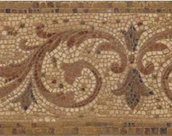 Mosaic Brass KR75114B Wallpaper Border