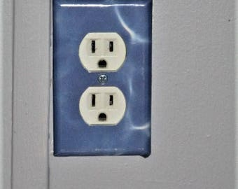 Blue Water Outlet Wall Plate Cover