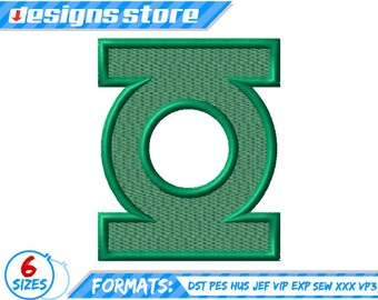 Green Lantern SUPERHERO EMBROIDERY DESIGNS  Machine Logo Justice League Dc SuperFriends
