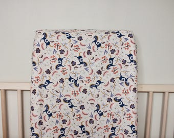 Blush Horses Changing Pad Cover / Fitted Changing Pad Cover /Rifle Paper Co Changing Pad Cover