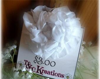 Super Cute White Handmade Flower Hair Clip