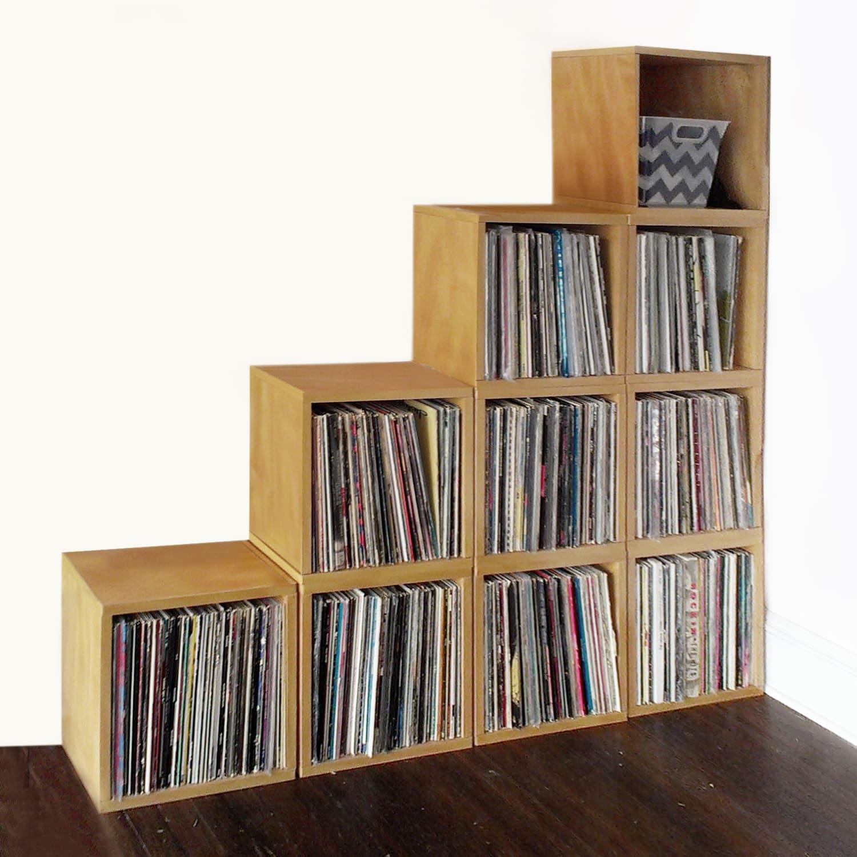 Vinyl Record Storage Cube Stackable Lp Record Album Storage