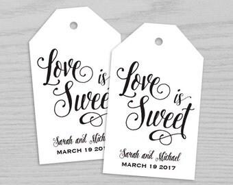 Wedding Tag, Love is sweet wedding tag, Favor Tags, Favor Tag, Wedding Favor Tag, Wedding Tag Printable, Gift Tag Digital Printable TAG002