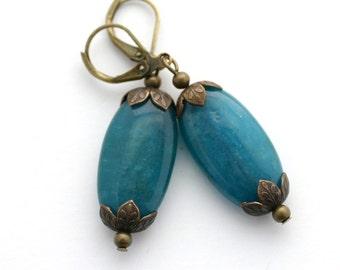 Boho earrings for women, gift for her, apatite