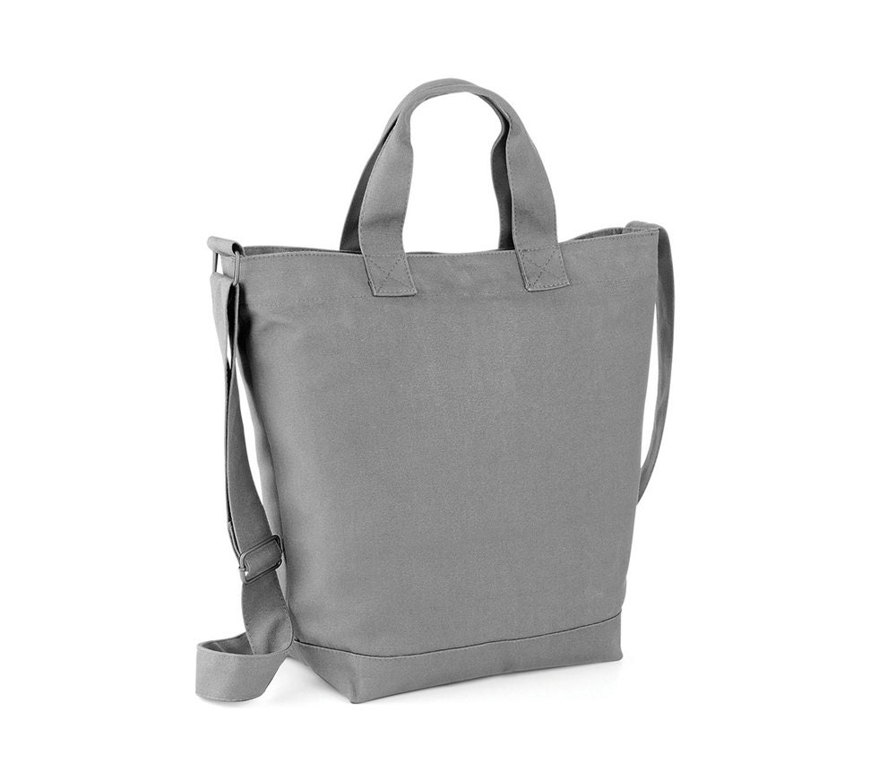 Grey Canvas Diaper Bag Comfort Unisex Canvas Tote Bag Women
