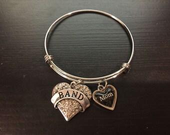 Band Mom Adjustable Bangle Style Bracelet