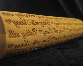 Baking with Nanny- personalize it! Rolling Pin