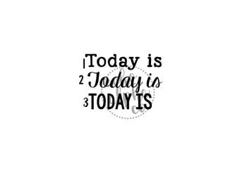 Today Is decal [classroom decor homeschooling today is sticker]