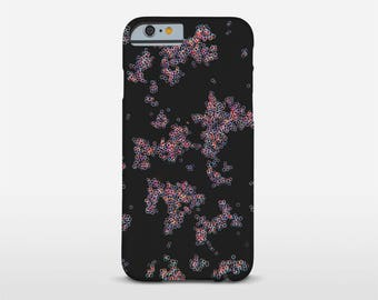 Abstract Cell Case, Photomicrography, Bubbles, Black Phone Case, iPhone Case, iPhone 7 Cases, Samsung Case and other brands