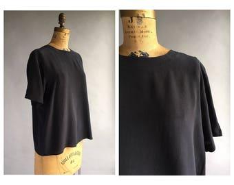 1990's Black Silk T-Shirt