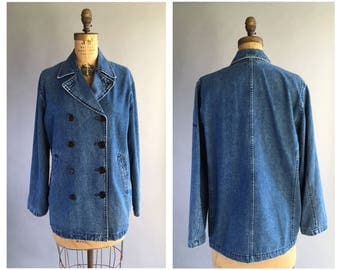 1990's Ralph Lauren Denim Pea Coat