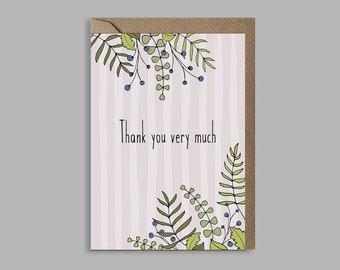 Thank you very much - greetings card
