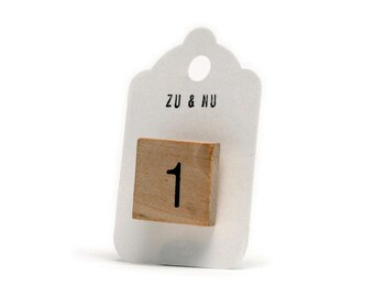 wooden number pin