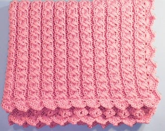 PDF  Easy baby blanket KNITTING PATTERNS,chunky blanket,blanket