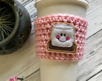 """The """"S'Mores"""" Cozies / Coffee Cozie / Tea Cozie / Tumbler Cozie / Crochet Cozie"""