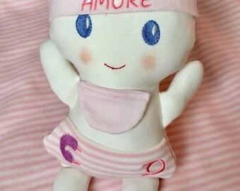 Soft cloth doll-girl girl baby doll