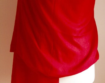 Red Silk Pashmina/Special gift/Handmade gift