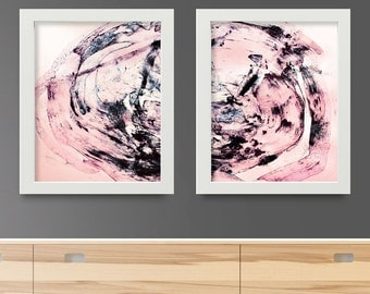 Abstract Art Print Set, Set of 2 Prints, digital downloads, Printable Abstract art, instant download, 8x10 and 11x14 sizes, Abstract Art set