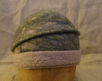Blue Ripple Felted Hat