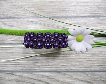 bracelet  / soutache technique / handmade (nr122)