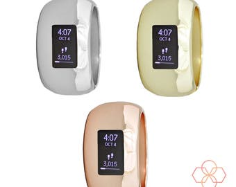 Fitbit Bracelet for Fitbit Charge 2 Fitness Activity Trackers - The TATUM INSIGHT Metal Bangle Fitbit Bracelet for Small Wrists - 3 colors