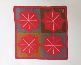 Great Vera Silk Geometric Scarf