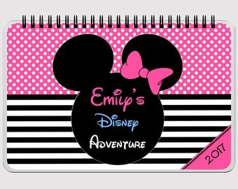 "Disney Autograph Book - PINK  - Minnie Mouse - FLIP BOOK - Journal- Notebook - Sketchbook - Diary - Scrapbook - 5.5"" x 8.5"""