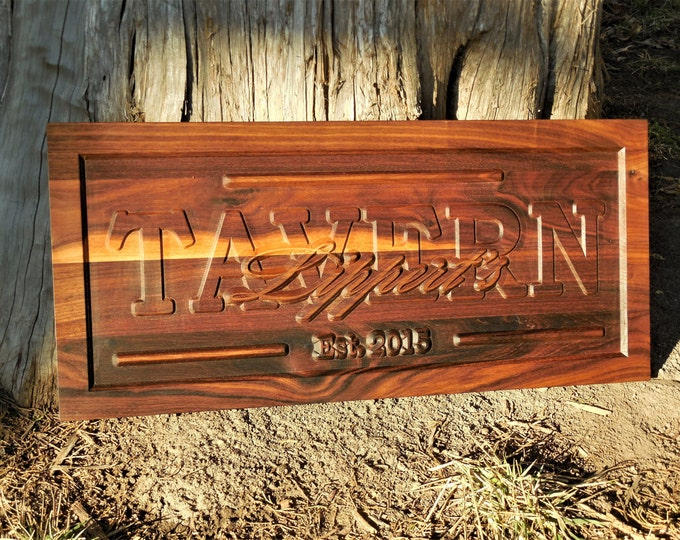 Tavern Sign Restaurant Plaque 3D Pub Personalized Bar Signs Business Sign Wood Business Signage Business Name Custom Bar Plaque Custom Bar