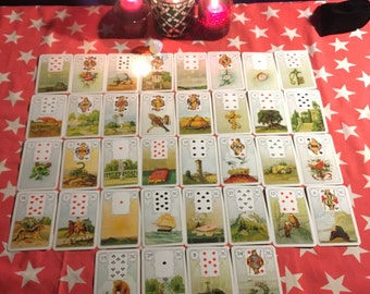 Lenormand Grand Tableau, up to 5 Questions: Text or unlisted Youtube video