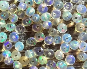 Tiny opal beads, Ethiopian Welo opals, natural Opal