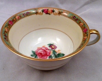 "KPM Porcelain ""The Rosedale"" Pattern #27469 Tea Cup, Teacup, 1930's"