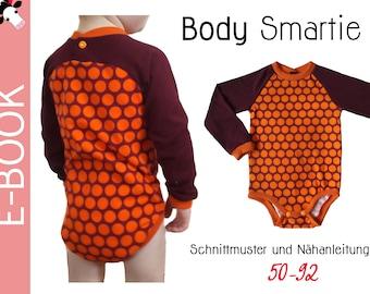 PDF Raglan-BABY-BODY *Smartie* Gr. 56-98 (0m-3T) sewing pattern