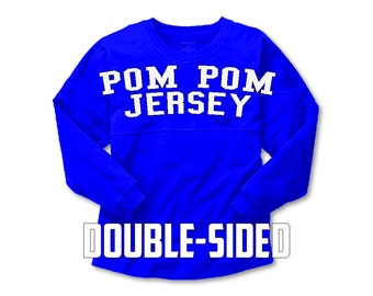 CLEARNACE for IN STOCK Colors and Sizes for Spirit Jersey  Custom Pom Pom Jersey, Custom Boyfriend Jersey