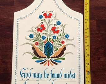 Vintage Berggren Swedish Cutting Board God may be found midst the pots or the posies