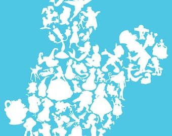 disney mickey head characters, disney mickey head, disney, iron on decal, vinyl decal, layered decal