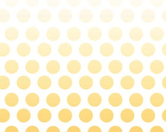 Ombre Dots in Yellow Premium Cotton Fabric from  Riley Blake Fabrics