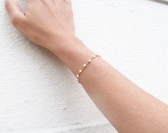 delicate pearl bracelet, freshwater pearl bracelet, multi strand pearl bracelet, pearl bridal bracelet, bridesmaids gift