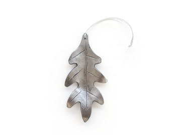 Ornament: Hand-forged Oak Leaf