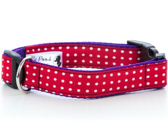 Pink Polka Dot Collar OR Lead