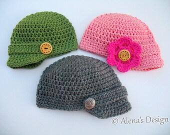 Easy Crochet Baby Boy Hat Patterns : Baby boy crochet pattern beanie Etsy