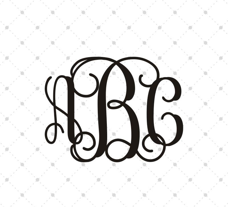 interlocking vine monogram svg  fancy monogram font  digital font fancy letters svg cut files