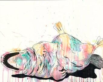Sad Day Watercolor