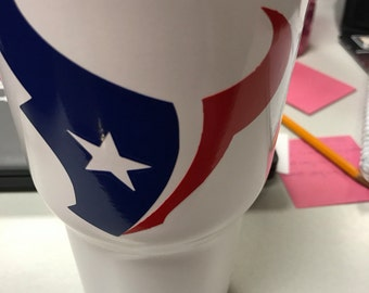 Texans cup decal