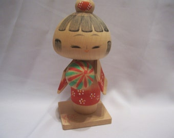 Wooden Japanese Kokeshi Doll Figurine