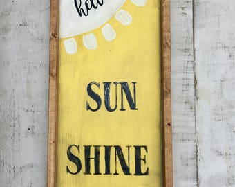 Summer/ woodsign/ spring/ signs/ country decor/ rustic/ wall decor/ sunshine sign/ farmhouse decor/ farmhouse