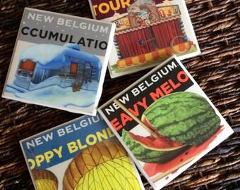 New Belgium Beer Coasters