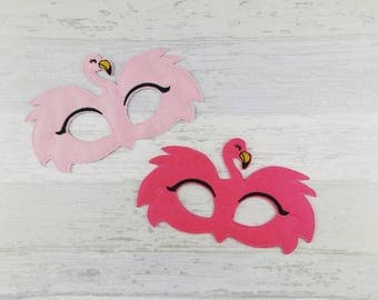 Flamingo Mask - Flamingo Felt Mask - Pink Flamingo Felt Mask - Party Mask - Birthday -  Halloween Celebration - Party Bag Favor - Animal